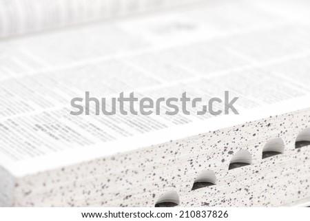 Dictionary macro close up. - stock photo