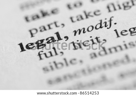 Dictionary Series - Legal - stock photo