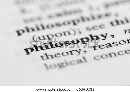 Dictionary Series - Philosophy - stock photo