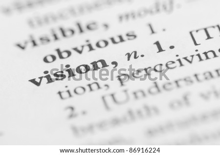 Dictionary Series - Vision - stock photo