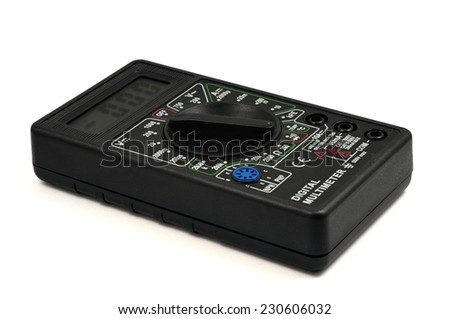 Didgital multimeter isolated on a white background