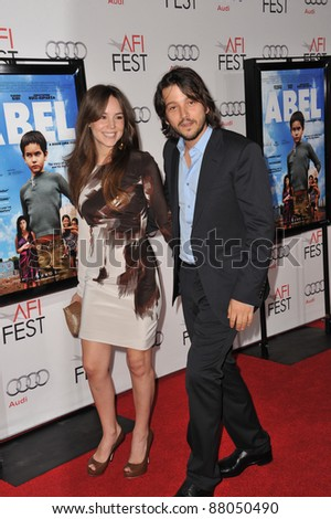 "Diego Luna & Camila Sodi at the AFI Fest premiere of his movie ""Abel"" at Grauman's Chinese Theatre, Hollywood. November 7, 2010  Los Angeles, CA Picture: Paul Smith / Featureflash"
