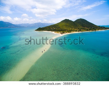 Diep Son islands from highview in Khanh Hoa province, Vietnam.