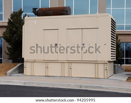 Diesel Backup Generator for Office Building - stock photo