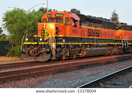 Diesel electric locomotive is operated in freight yard by remote control