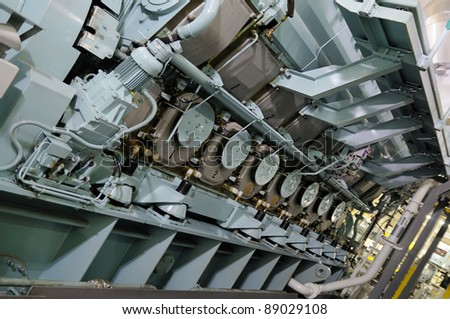 Diesel Engine - stock photo