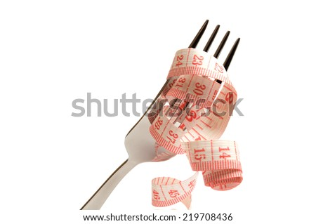 Diet concept. Losing weight and eat healthy - stock photo