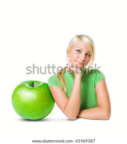 Diet concept: the big apple. - stock photo