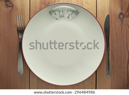 Diet concept with copy space - stock photo