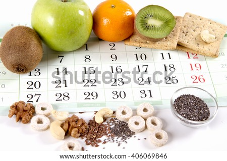 diet eating healthy food - stock photo