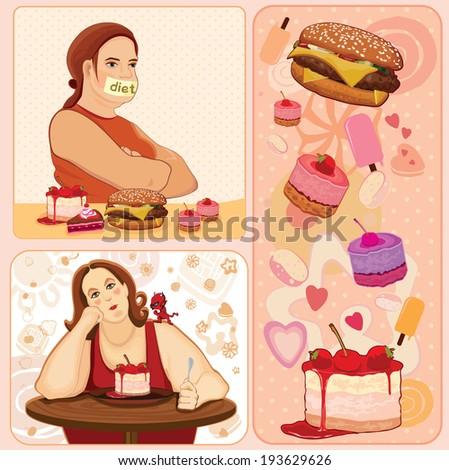 diet. Illustration - stock photo