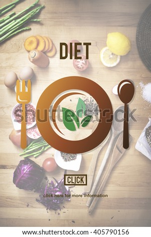 Diet Nutrition Health Food Healthy Eating Website Concept - stock photo