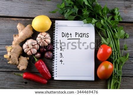Diet plans, health conceptual - stock photo