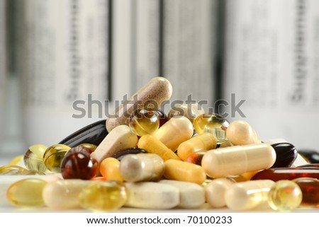 Dietary supplements - stock photo