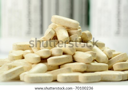 Dietary supplements - stock photo