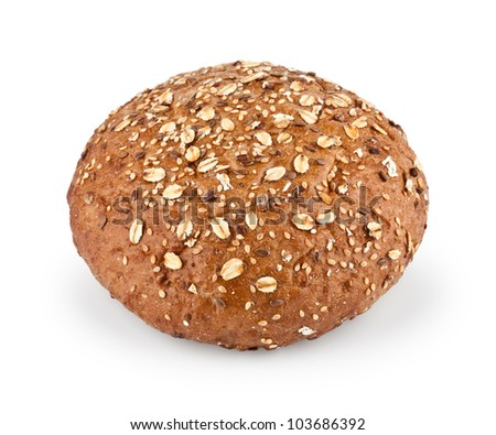 Dietary whole grain bread isolated on white background - stock photo