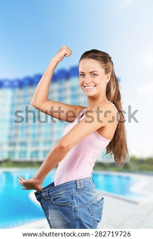 Dieting, Weight, Loss. - stock photo