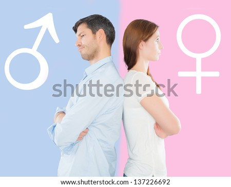 difference gender - stock photo