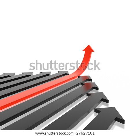 different arrow (from arrows set) - stock photo