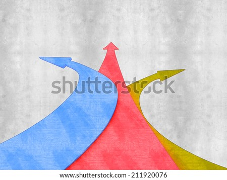 different arrows direction - stock photo