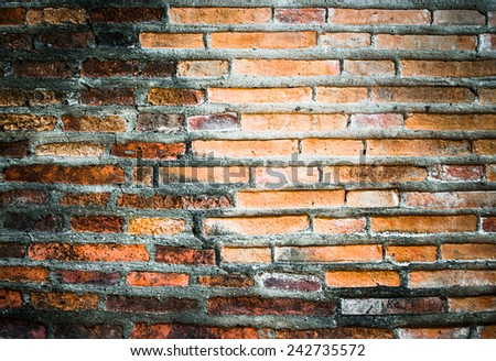 different beautiful natural vintage red brick wall texture background