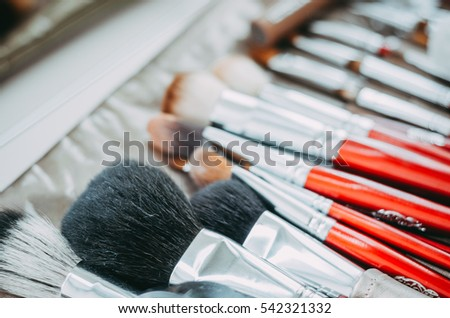 different brushes for a make-up