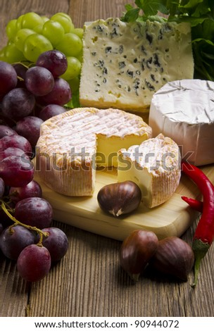 Different cheese kinds