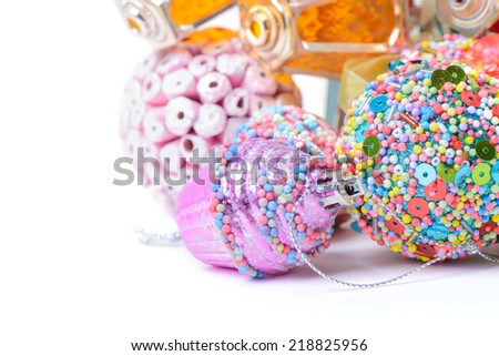 Different christmas accessories - stock photo