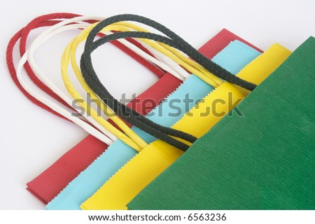 Different color bags used in Christmas season - stock photo