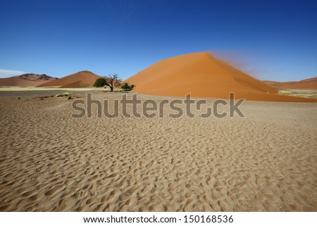 Different colours of the sand at Dune 45