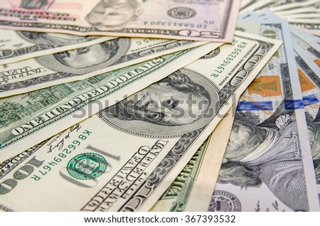 different dollar as background