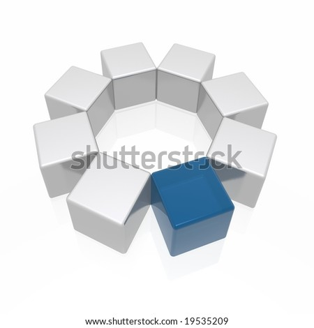 different element (from blue and silver series) - stock photo