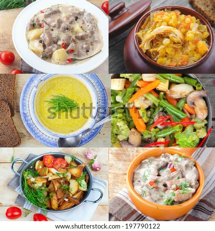 different food - stock photo