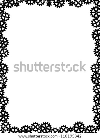 different gears black like frame - stock photo