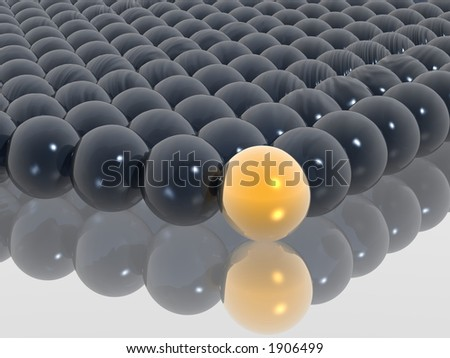 different gold ball - stock photo