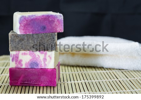 different handmade soaps  - stock photo