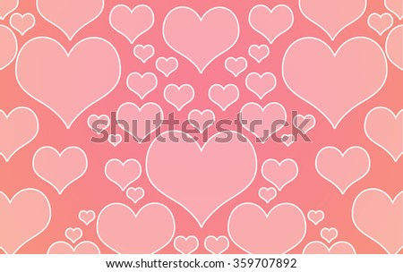 Different Heart Shape Background