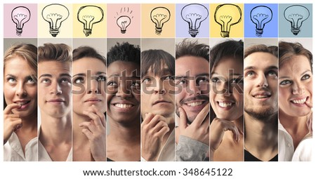 Different ideas - stock photo
