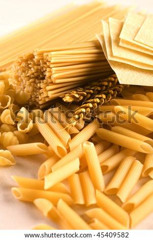 Different italian pasta - stock photo