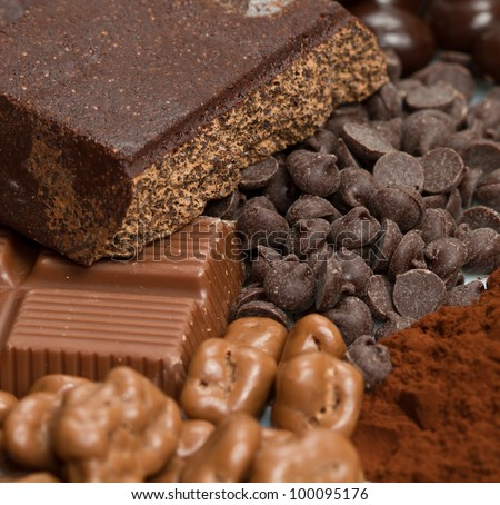 different kind of chocolate - stock photo
