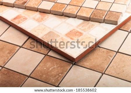 Different kinds of mosaic tiles - stock photo