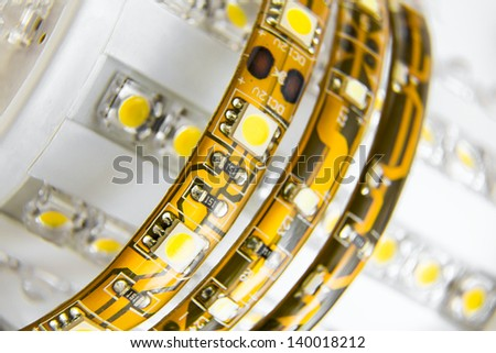 different led strips wound on older LED bulbs