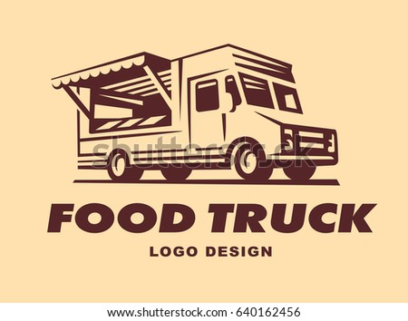 Different Logos Of Food Truck The Have A Retro Look