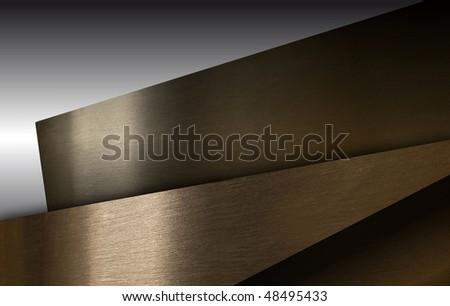 Different metal colors: brass, copper, zinc - stock photo