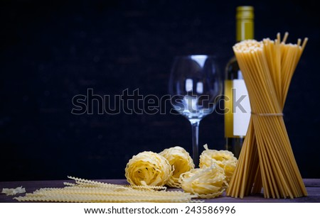 different pasta - stock photo