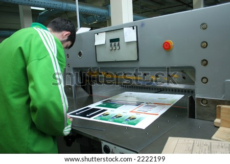 Different printed machines and polygraphing equipment - stock photo