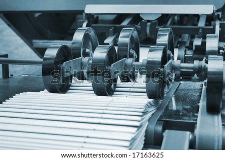 Different printing machines and polygraphing equipment - stock photo