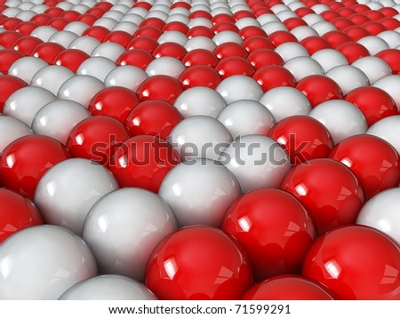 Different red balls