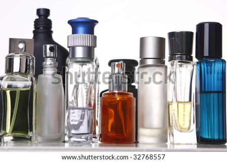 different shapes of perfume bottles