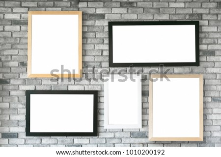 Different Size Style Empty Photo Frames Stock Photo (Royalty Free ...